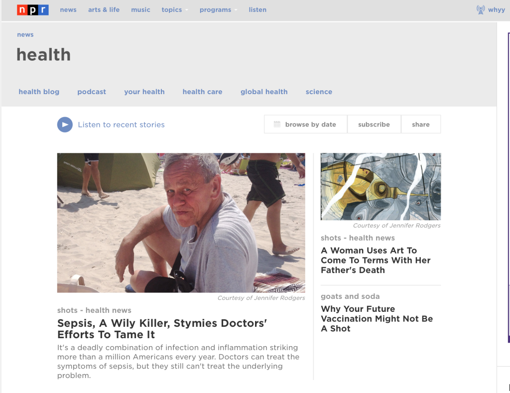 Health Page NPR website May 4, 2015